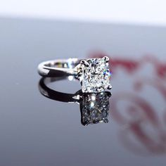 Such a stunning 2.01 Cushion Cut #Diamond Solitare #engagement ring by @gallojewelry