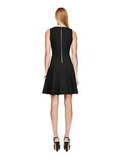 pleated ponte dress by kate spade new york