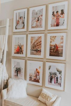 My Framed Photo Gallery Walls – Haute Off The Rack Meine gerahmten Fotogalerie Wände · Haute Off The Rack Decoration Hall, Decoration Photo, Photo Wall Decor, Big Wall Decorations, Photo Wall Design, Christmas Decorations, Photos Encadrées, Photos On Wall, Picture On The Wall