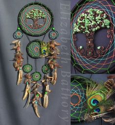 Elizabeth's dream catchers by ElizaDreamCatchers Indian Arts And Crafts, Diy And Crafts, Native Brand, Paracord Projects, Crochet Crafts, Wind Chimes, Dream Catchers, Handmade Gifts, Weaving