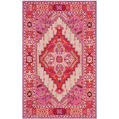 Bungalow Rose Blokzijl Hand-Tufted Red Pink/Ivory Area Rug & Reviews | Wayfair