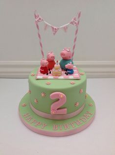30+ Amazing Image of Peppa Pig Birthday Cakes Peppa Pig Birthday Cakes A Peppa Pig Picnic And Bunting Cake Fancy Fondant Party Ideas #HappyBirthdayCakes