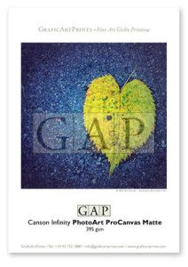 Muestra papel Canson Infinity PhotoArt ProCanvas Matte impresa en giclée por GraficArtPrints © @queraltsunyer  #canson #cansoninfinity #inkjet #paper #papers #papel #papeles #giclée #giclee #fineart #muestra #muestras #sample #samples