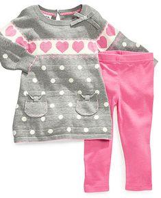 Bluerberi Boulevard Baby Set, Baby Girls Sweater Dress and Leggings - Kids Baby Girl months) - Macy's Baby Outfits, Outfits Niños, Kids Outfits, Baby Set, My Baby Girl, Baby Love, Baby Girls, Little Girl Fashion, Kids Fashion