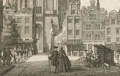 Nederland, Utrecht; Isaak Tirion - Maartensbrug met zicht op de Servetstraat - ca. 1755