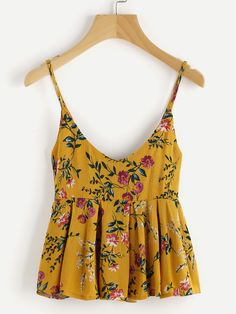 Shop Ditsy Print Frill Hem Cami Top online. SheIn offers Ditsy Print Frill Hem Cami Top & more to fit your fashionable needs.