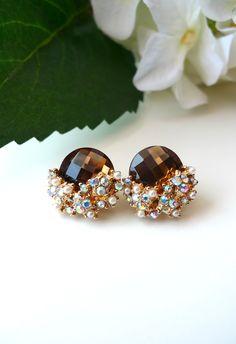 Pearl Diamond Shape Earrings - Accessory - Retro, Indie and Unique Fashion
