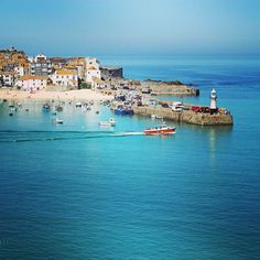 St Ives Harbour Cornwall More realistic holiday destination for us but so beautiful my favourite place St Ives Cornwall, Devon And Cornwall, Great Places, Places To See, Beautiful Places, Cornwall Beaches, Uk Holidays, Costa, Amazing Destinations