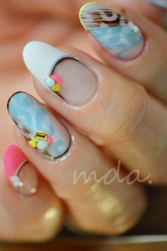 "#nail #nails #nailart ""I like the French tip part"""
