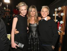 Jennifer hangs with Portia and Ellen at awards shoes.