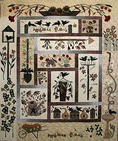 Cute applique from Kathy Schmitz | Quilt blocks I like | Pinterest ... : primitive quilts and projects blog - Adamdwight.com