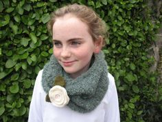 Items similar to Sage Green Knitted Neckwarmer In Irish Boucle Mohair on Etsy Neck Warmer, Hippy, Sage, I Shop, Irish, Inspire, Crochet, Green, How To Make