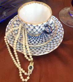 Vintage Lomonosov Teacup, Saucer and Plate