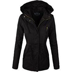 makeitmint Women's Zip Up Military Anorak Jacket w/ Hood [S-3XL]