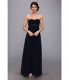 Designer Clothes, Shoes & Bags for Women Blue Chiffon Dresses, Chiffon Evening Dresses, Blue Gown, Strapless Dress Formal, Formal Dresses, Blue Cocktail Dress, Cocktail Dresses, Blue Evening Gowns, Pleated Bodice