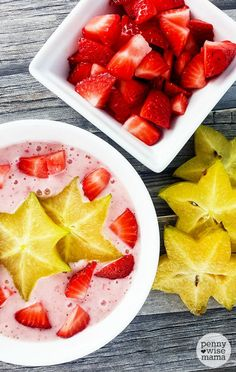 Strawberry Star Fruit Smoothie Bowl