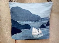 Jean Crafts, Denim Crafts, Patchwork Bags, Quilted Bag, Denim Ideas, Recycle Jeans, Old Jeans, Recycled Denim, Simple Bags