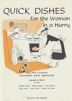 Who amongst us can't use plenty of these?! vintage food cookbook 1950s
