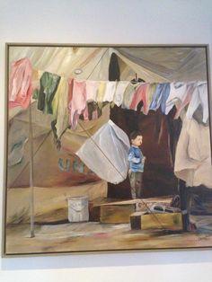 Schilderij van VN vluchteling