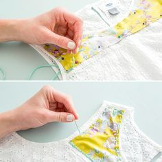 Use colorful embroidery thread and bright fabric to upgrade a basic shirt.