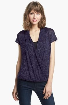 Ella Moss Metallic Surplice Top available at #Nordstrom