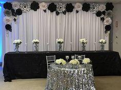 Paper Flower Backdrop / Giant Paper Flowers Wall / Paper Flower Wall / Wedding Wall / Wedding Arch l White Paper Flowers, Paper Flower Wall, Giant Paper Flowers, Wood Flowers, Large Flowers, Diy Flowers, Pipe And Drape Backdrop, Flower Wall Backdrop, Wall Backdrops
