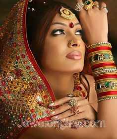 Indian bridal jewellery..the colors of my wedding