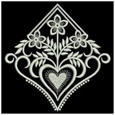 Wind Bell Embroidery Embroidery Design: Heirloom Heart Decor 3.73 inches H x 3.82 inches W