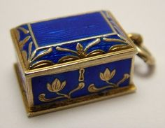 Art Nouveau Meyle & Mayer Silver Enamel Box Charm