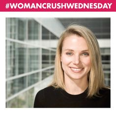 Our #WCW is #MarissaMayer the current president and CEO of @yahoo , a position she has held since July 2012.  Previously, she was a long-time executive and key spokesperson  for #Google.