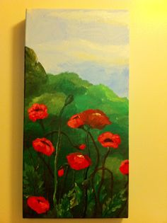 First poppy painting ever.  I was just learning how to paint them.