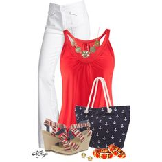 Cute Summer Style, created by kginger on Polyvore