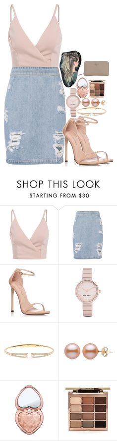 """done for a while • read d"" by legitimately-kierstin ❤ liked on Polyvore featuring IRO, Stuart Weitzman, Nine West, Nadri, Too Faced Cosmetics, Stila and Coach"