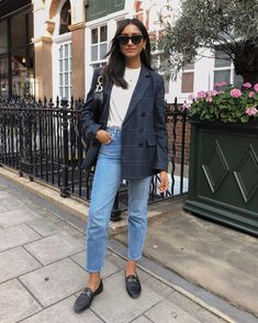 35 Fall Outfits Ideas For Women Street Style ; Blazer Outfits, Fall Outfits, Casual Outfits, Summer Outfits, Cute Outfits, Fashion Outfits, Modest Outfits, Ootd Fashion, Sweater Outfits