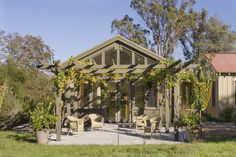 """""""Idea of half cover and pergola with vine"""" """"Like the pitch on this roof/pergola?"""" """"slanted roof and pergola combo"""" """"pergola outside glass wi..."""