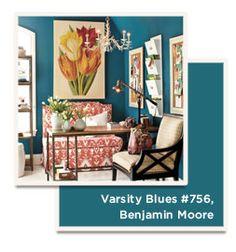 varsity blues #756 by benjamin moore