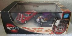 2001 Hot Wheels Route 66 Limited Edition 2 Car Set '34 Ford & '69 Camaro