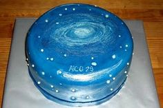 """Andromeda Galaxy Cake In order to make this cake look as """"galaxy-like"""" as possib. Andromeda Galaxy Cake In order to make this cake look as """"galaxy-like"""" as possible, I placed dragees (edible pearl-sized. Galaxy Party, Galaxy Wedding, Galaxy Cake, Planet Cake, Edible Pearls, Blackberry Recipes, Bowl Cake, Cupcakes, Space Party"""