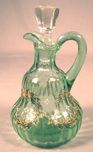 Victorian Green with Gold Glass Crue