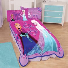 Disney's Frozen Bed Set. Twin size in case we get a new bed for B at some point.