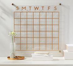 Daily Organization, Makeup Organization, Modular Walls, Magnetic White Board, Acrylic Organizer, Printable Calendar Template, Kids Calendar, Office Accessories, Devon