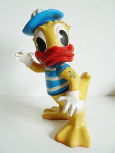 Vintage large rubber toy Donald Duck Sailor by FlyingSpoon on Etsy