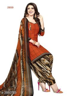 Checkout this latest Suits Product Name: *Trendy Women Suit & Dress Material* Top Fabric: Synthetic Crepe + Top Length: 2.5 Meters Bottom Fabric: Synthetic Crepe + Bottom Length: 2 Meters Dupatta Fabric: Synthetic Crepe + Dupatta Length: 2.25 Meters Lining Fabric: No Lining Type: Un Stitched Pattern: Printed Multipack: Single Country of Origin: India Easy Returns Available In Case Of Any Issue   Catalog Rating: ★4 (2241)  Catalog Name: Abstract Printed Synthetic Crepe Suits & Dress Materials (Single Pack) CatalogID_542543 C74-SC1002 Code: 433-3860765-957