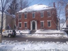 An historic brick house in downtown Portsmouth NH