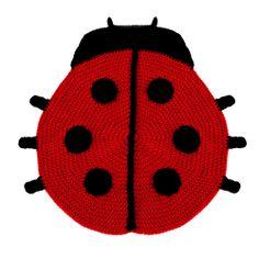 Crochet Lady Bug Kids Rug
