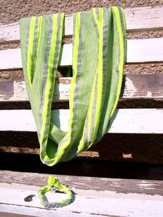 neon scarf / neonová šálka