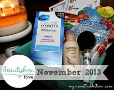 Check out the #beautybox5 November 2013 products!