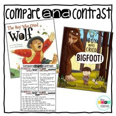 "Compare and contrast the classic fable with this fun twist of ""The Boy Who Cried Wolf."""