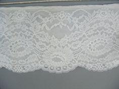 White lace trim vintage slip lace by BobbinUpandDown on Etsy