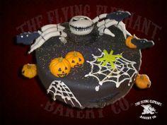 Halloween cake. Fondant and icing